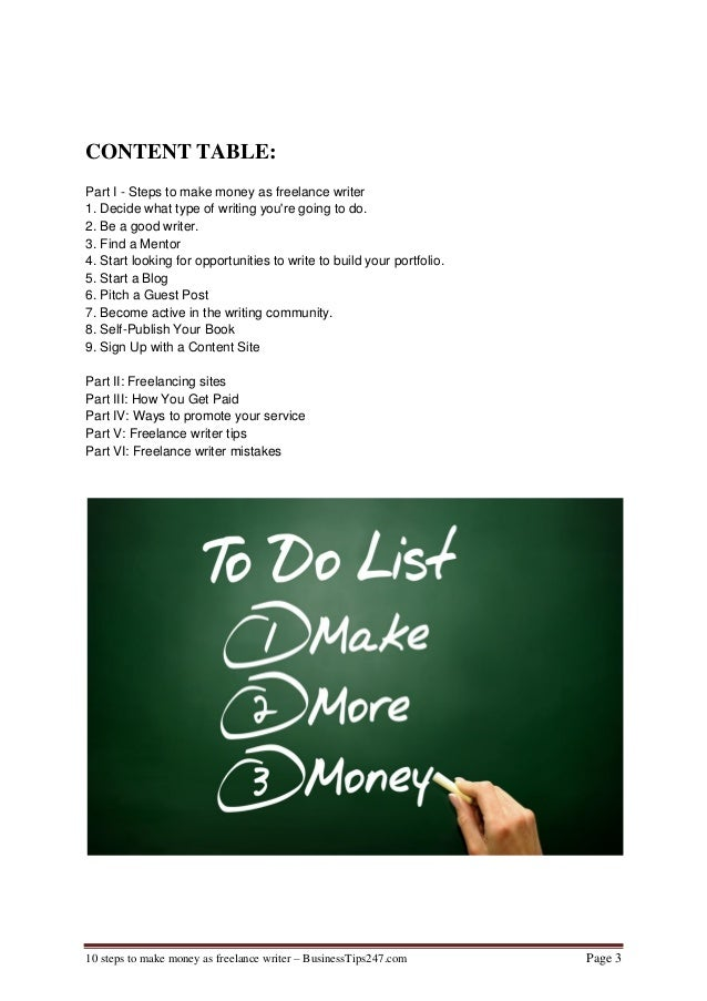 Steps to Make Money Writing