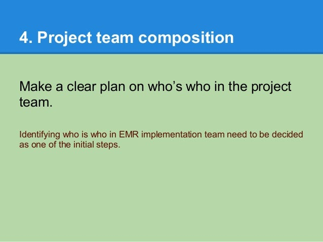 implementation of an emr Stage of ehr adoption and implementation at the time each challenge issue was created milestone 1 indicates the site is enrolled with an rec.