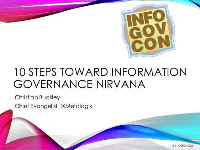 10 STEPS TOWARD INFORMATION  GOVERNANCE NIRVANA  Christian Buckley  Chief Evangelist @Metalogix  #InfoGovCon