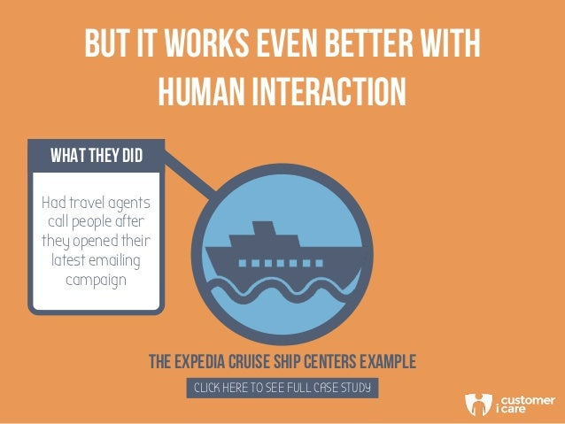 THE EXPEDIA CRUISE SHIP CENTERS EXAMPLE CLICK HERE TO SEE FULL CASE STUDY BUT IT WORKS EVEN BETTER WITH HUMAN INTERACTION ...