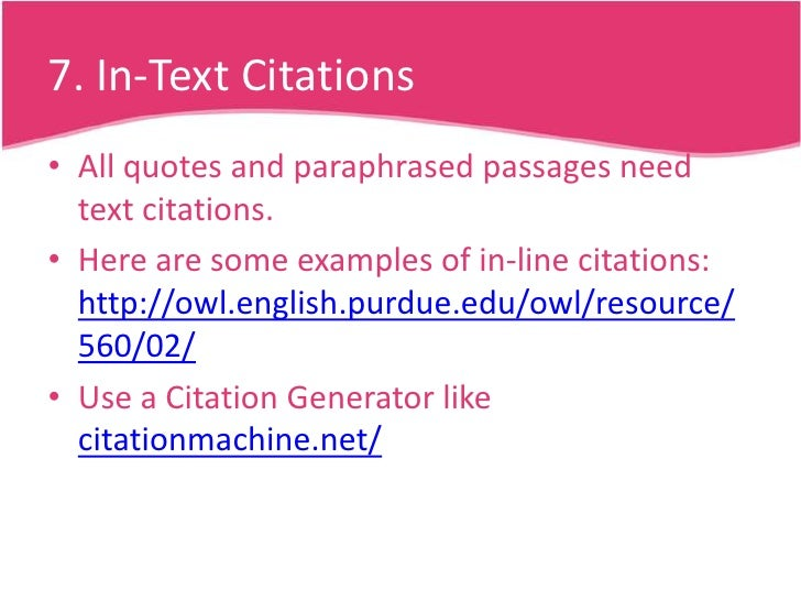 write citations research paper