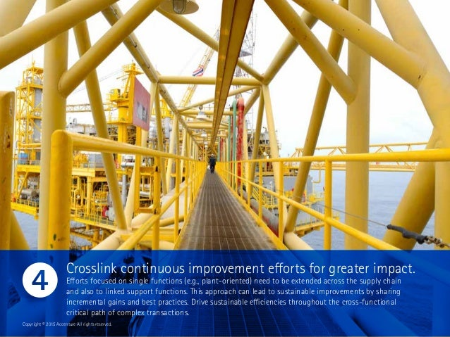 Crosslink continuous improvement efforts for greater impact. Efforts focused on single functions (e.g., plant-oriented) ne...