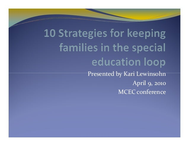 Presented by Kari Lewinsohn April 9, 2010 MCEC conference