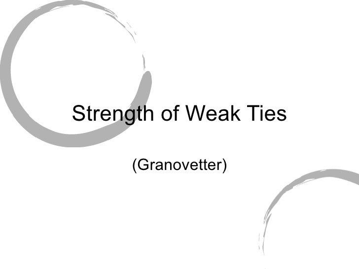 Strength of Weak Ties (Granovetter)