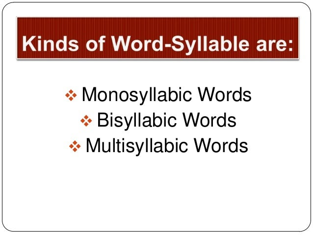 10 Stress Syllable Stress
