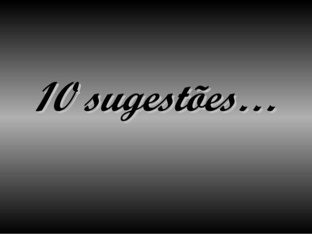10  Sugestues