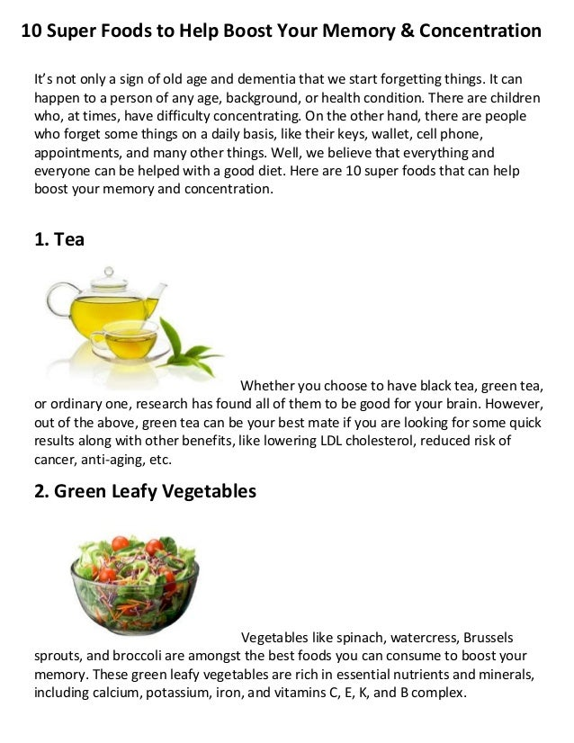 Natural Foods That Help Concentration