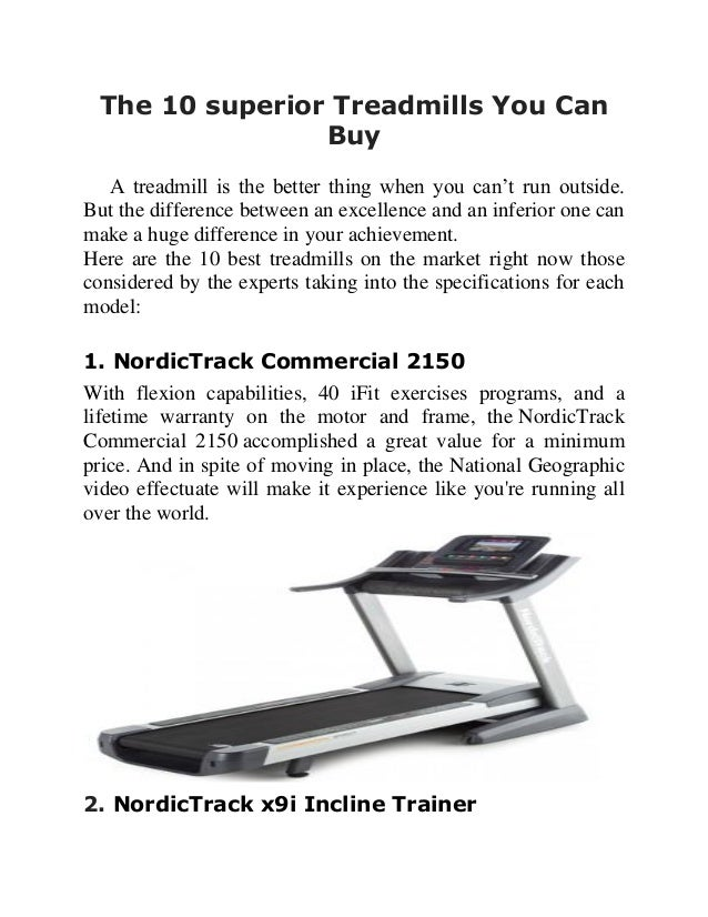10 superior treadmills you can buy