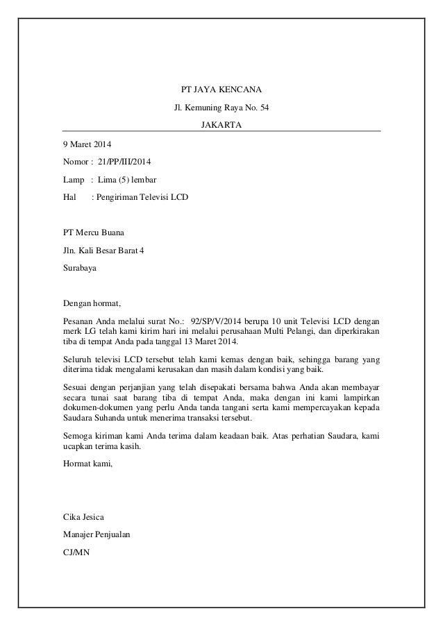 Contoh Surat Resmi Format Pdf