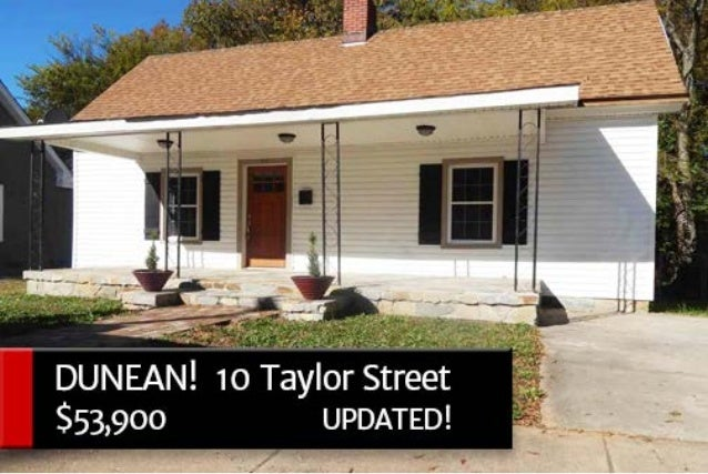 DUNEAN AREA! 10 Taylor Street, Greenville, SC  29605 $53,900