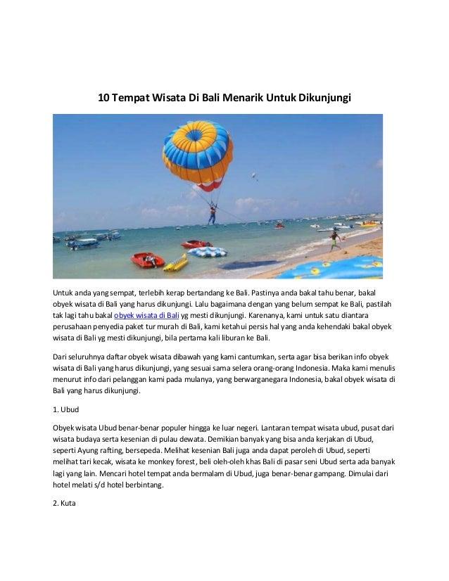 10 Tempat Wisata Di Bali Menarik Untuk Dikunjungi