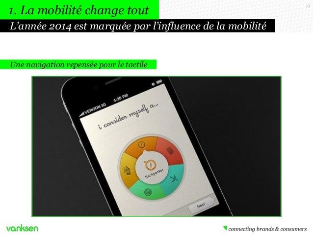1. La mobilité change tout L'année 2014 est marquée par l'influence de la mobilité  Une navigation repensée pour le tactil...
