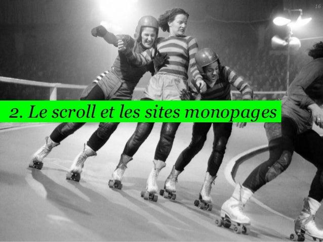 16  2. Le scroll et les sites monopages
