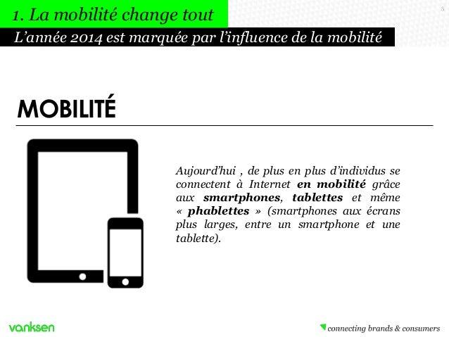 1. La mobilité change tout L'année 2014 est marquée par l'influence de la mobilité  MOBILITÉ Aujourd'hui , de plus en plus...