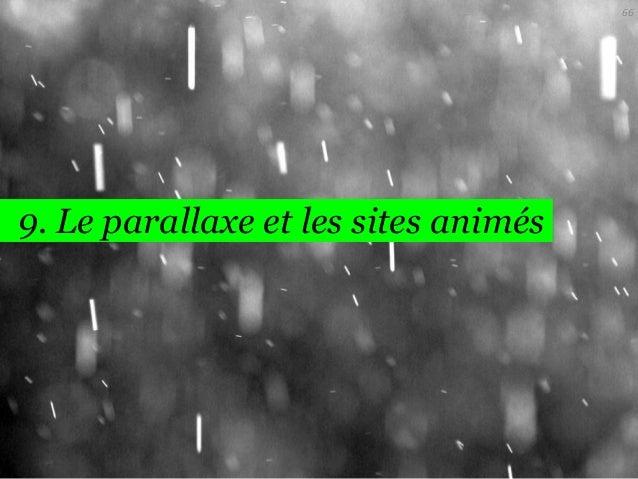 66  9. Le parallaxe et les sites animés