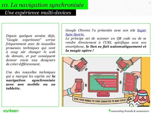 """10. La navigation synchronisée Une expérience multi-devices  Depuis quelques années déjà, """"Google experiment"""" arrive fréqu..."""