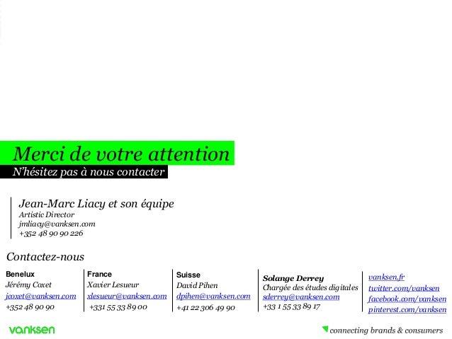 Merci de votre attention N'hésitez pas à nous contacter Jean-Marc Liacy et son équipe Artistic Director jmliacy@vanksen.co...