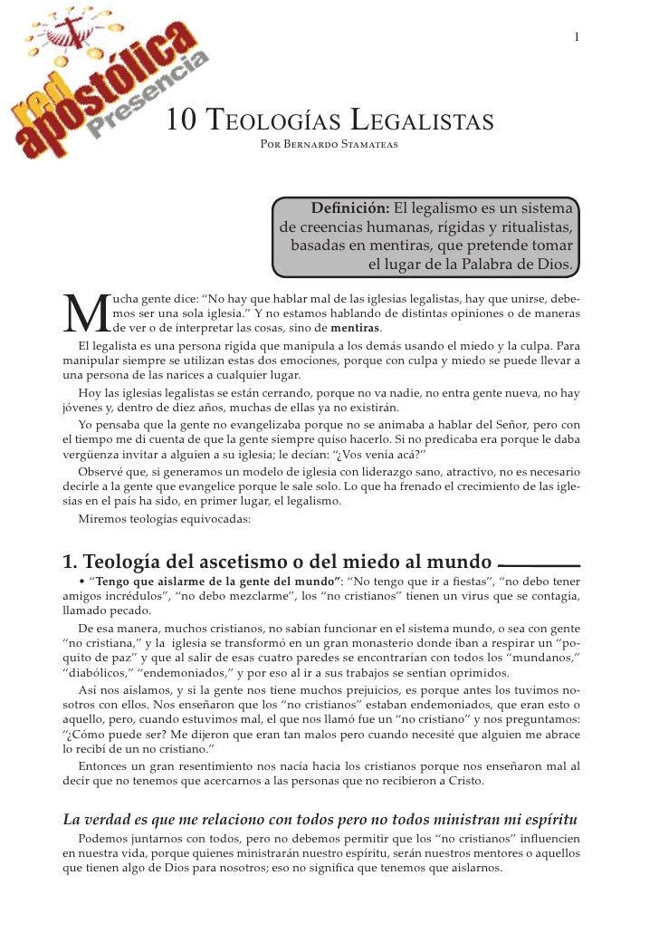 1                        10 TEOLOGÍAS LEGALISTAS                                       P�� B������� S��������             ...