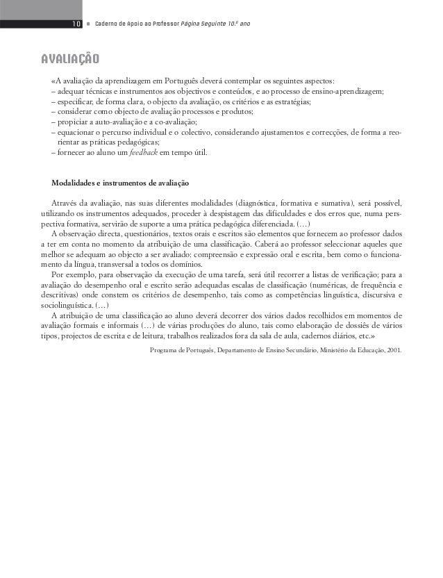 12 • Caderno de Apoio ao Professor Página Seguinte 10.o ano  I  Responde com clareza e concisão às questões.  1. Considera...
