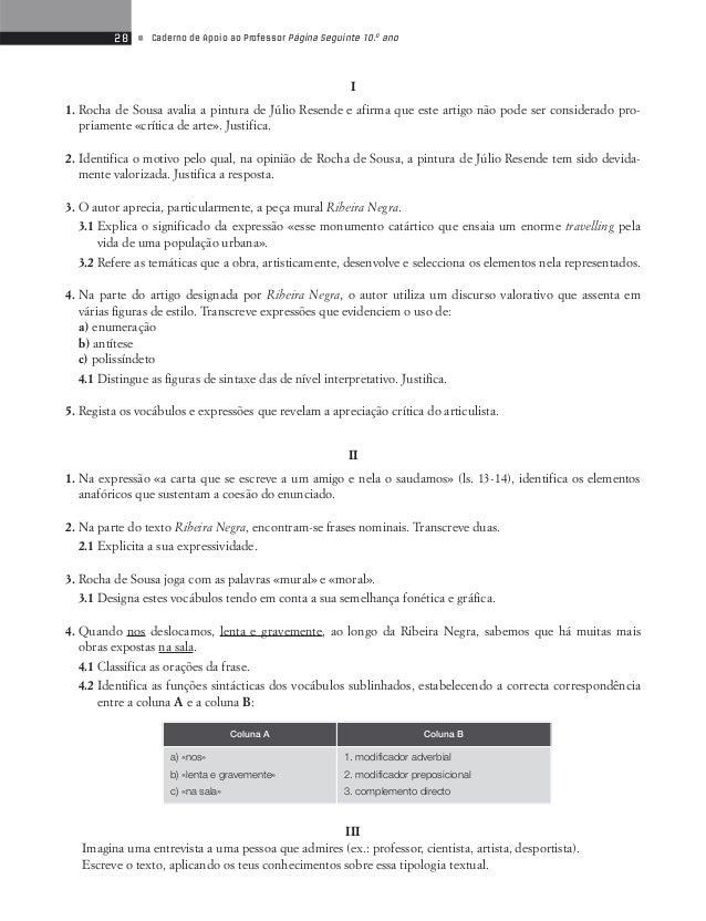 30 • Caderno de Apoio ao Professor Página Seguinte 10.o ano  Teste de Avaliação 7  Textos dos Media  Cafés  O Café foi e c...
