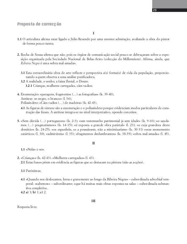 31  6. A interrogação retórica é uma figura de estilo de grande significado. Explicita o seu valor expressivo.  7. Classif...