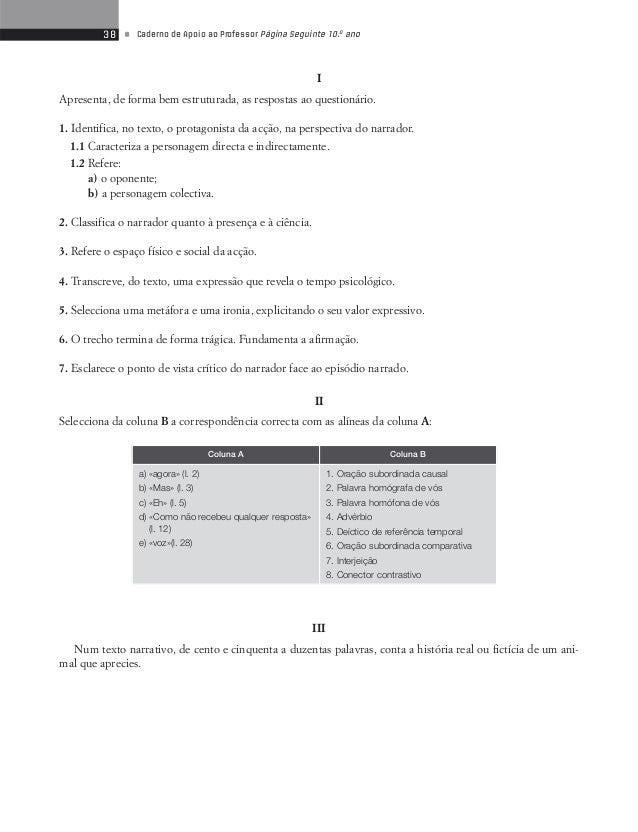 40 • Caderno de Apoio ao Professor Página Seguinte 10.o ano  Propostas de correcção de algumas actividades do Manual  «Céu...