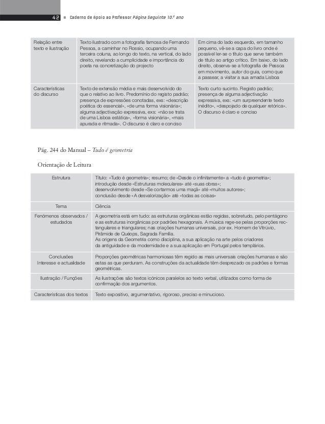 44 • Caderno de Apoio ao Professor Página Seguinte 10.o ano  Sequência 5  Pág. 277 do Manual – «Os namorados de Amância»  ...