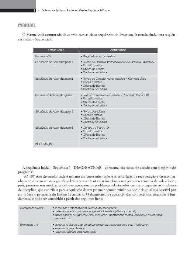 6 • Caderno de Apoio ao Professor Página Seguinte 10.o ano  AULA DIGITAL  Este recurso põe à disposição dos docentes múlti...