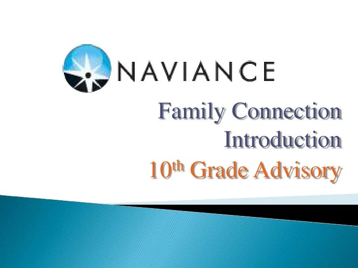 Family Connection         Introduction10 th Grade Advisory