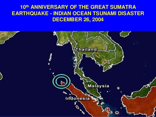 The sumatran tsunami of december 26