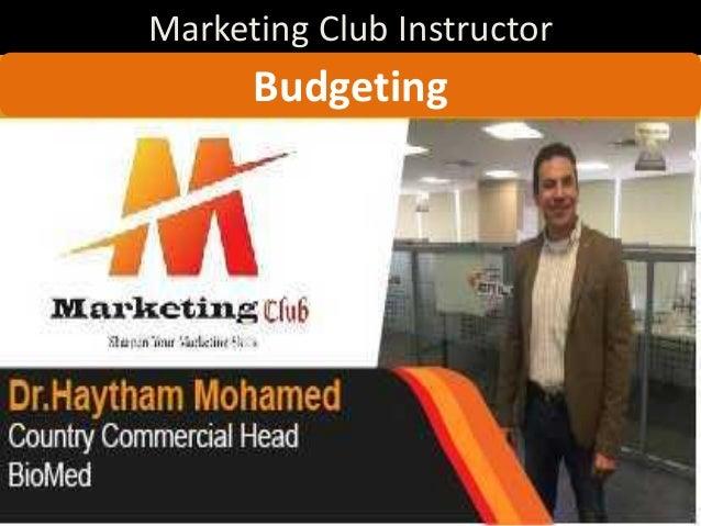 Marketing Club Instructor 1 Budgeting