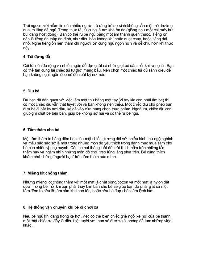 10 thứ cần thiết sau khi sinh mà các bà mẹ cần quan tâm Slide 2