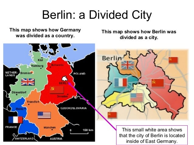 The Cold War - Map of divided berlin