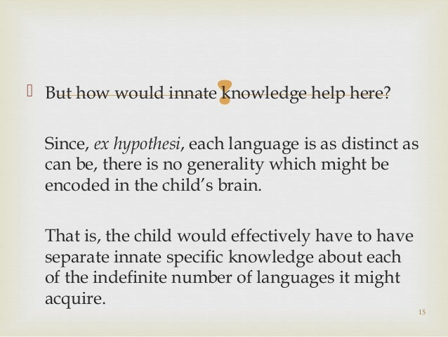 an overview of the poverty of stimulus argument The literature with an argument for school-based  it also provides an overview of interventions that include mind-  even when the stimulus was unexpected.