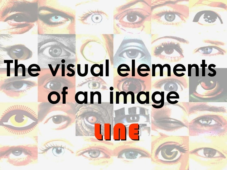 The visual elements  of an image LINE