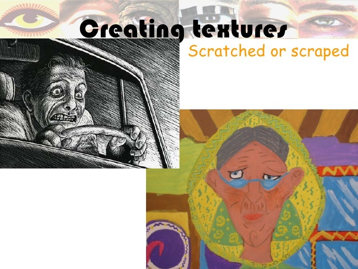 Creating textures        Scratched or scraped