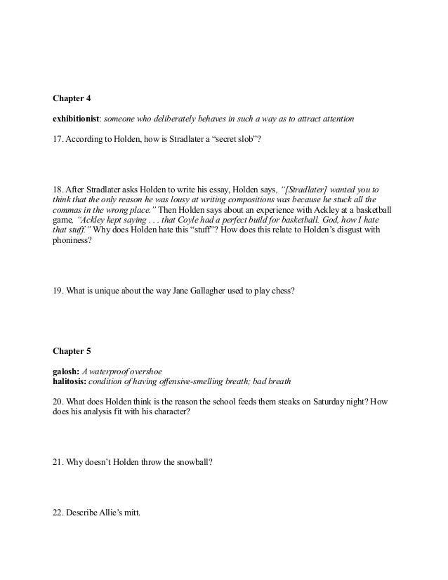 Holden essay hypocrite essay