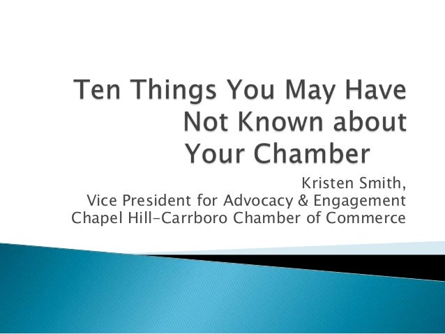 Kristen Smith, Vice President for Advocacy & EngagementChapel Hill-Carrboro Chamber of Commerce