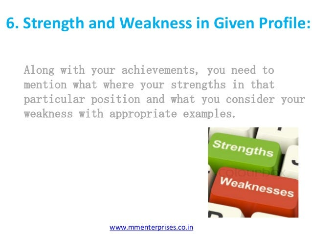 strength and weakness interview