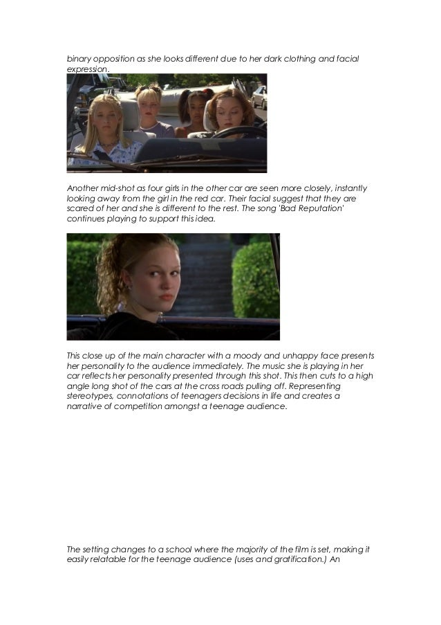 10 Things I Hate About You Opening Sequence Analysis