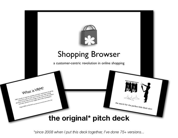 the original* pitch deck*since 2008 when I put this deck together, I've done 75+ versions...