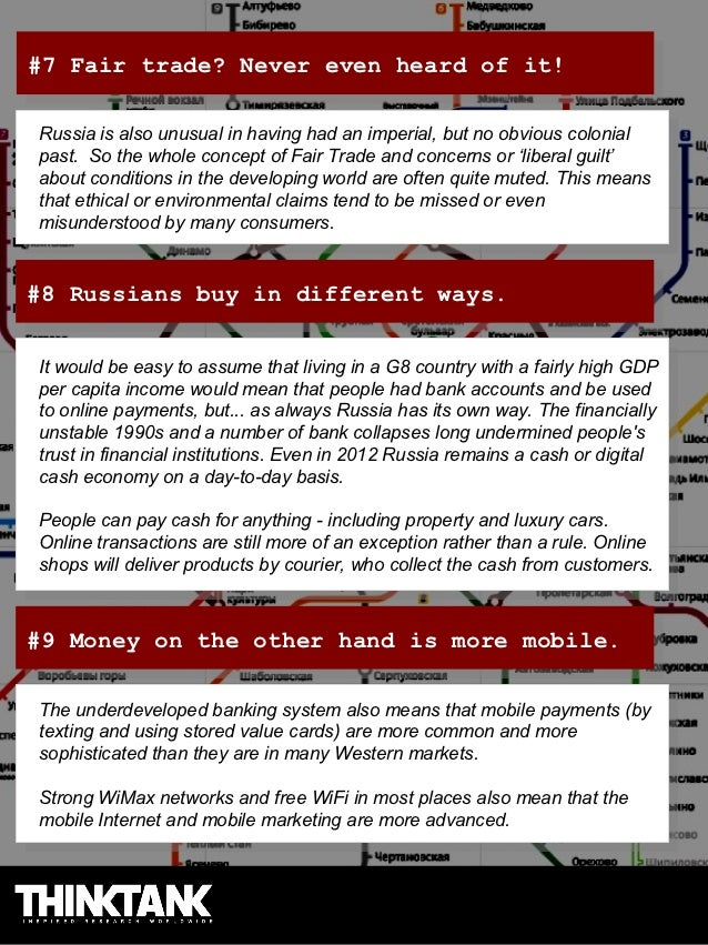 #7 Fair trade? Never even heard of it! #7 Fair trade? Never even heard of it!Russia is also unusual in having had an imper...