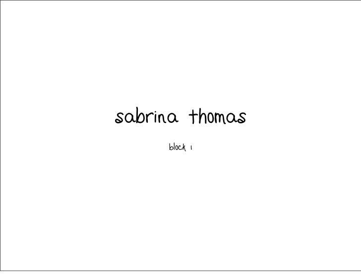 sabrina thomas     Block 1