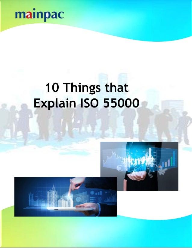 10 Things that Explain ISO 55000