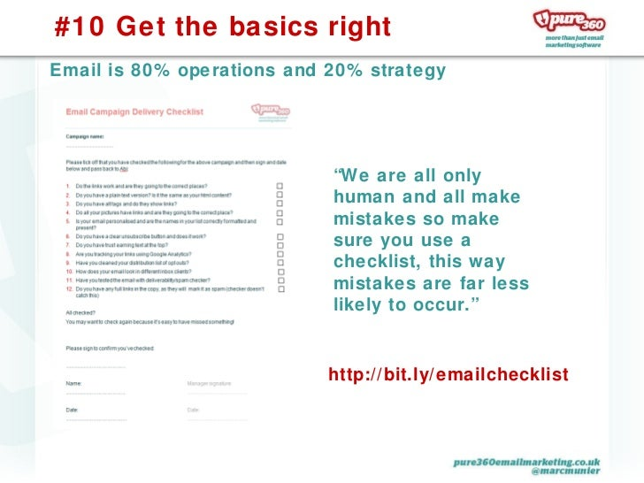 10 things you can do today to improve your email marketing