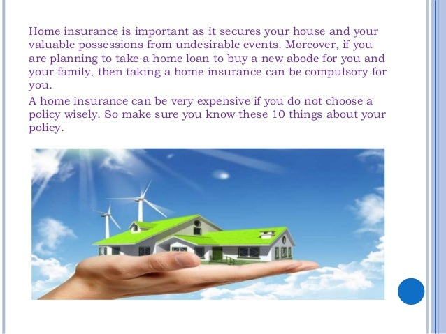 10 things you should know about your home insurance Slide 2
