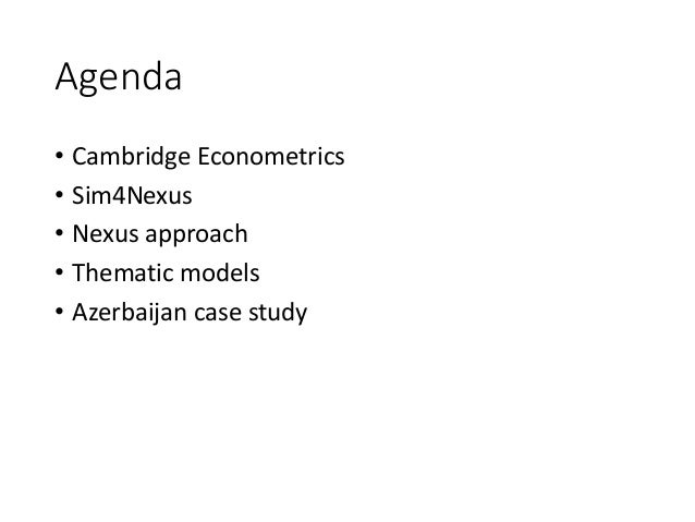 Supporting global and European climate and energy policy-making through the nexus approach Slide 2