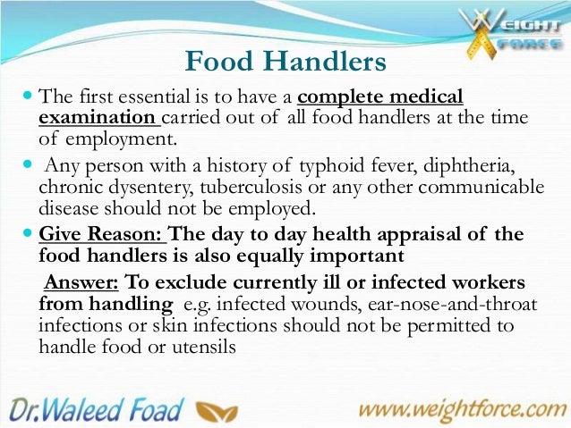 Personal Hygiene In Food Establishments