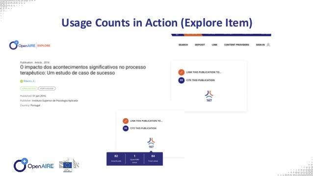 OpenAIRE Usage Counts Portal