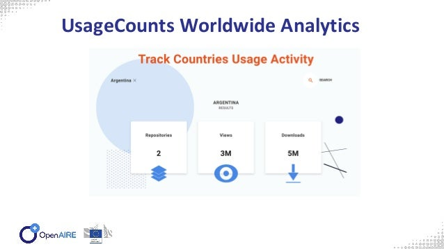 based on https://usagecounts.openaire.eu/resources#apis Supports COUNTER R4 compatible reports: ○ Article Reports (AR) and...